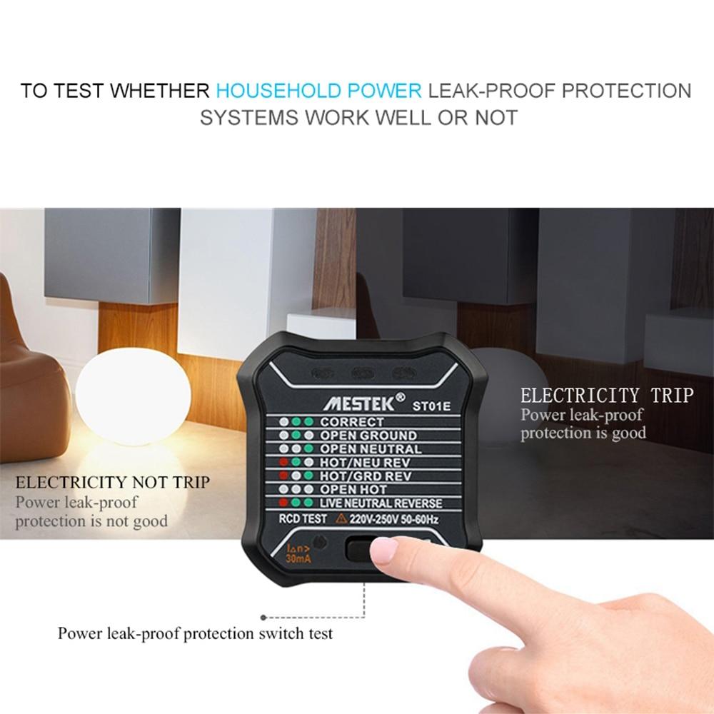 Mestek Portable Socket Tester Circuit Breaker Finders Wire Receptacle Detector Wall Plug Detection Tool In Instrument Parts Accessories