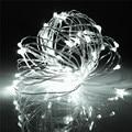 Impermeable 6 M 60 LED Luz de la Secuencia de La Batería Operado Alambre de Plata LED de Luz Con Control Remoto de La Boda de Hadas del Jardín Al Aire Libre decoración