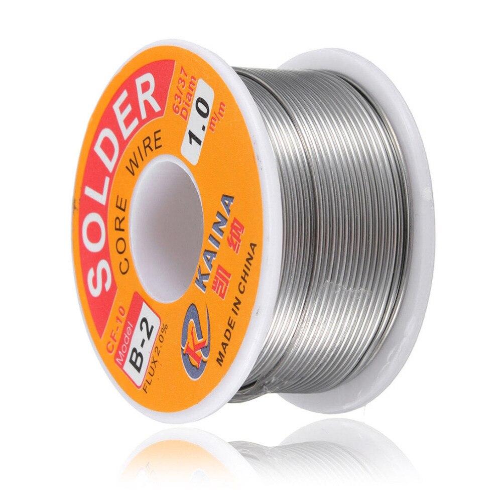 Hot 100g/3.5oz FLUX 2.0% 1mm 63/37 45FT Tin Lead Line Rosin Core Flux Solder Soldering Welding Iron Wire Reel New