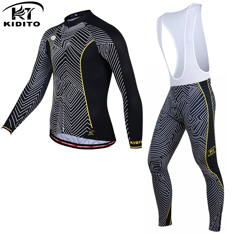 KIDITOKT Keep Warm Cycling Jersey Set 2017 Ropa Ciclismo Invierno MTB Bike Long Sleeve Winter Thermal Fleece Bicycle Clothing malciklo winter fleece thermal cycling jersey set long sleeve bicycle bike clothing pantalones ropa ciclismo invierno wears