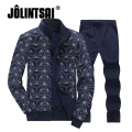 Jolintsai 2017 Sporting Suit Men Plus Big Size 4XL 5XL 6XL 7XL 8XL Clothing Suit Tracksuit Sportwear Sweatshirt+Pant Set Men