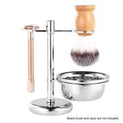 2 в 1 держатель для бритья из нержавеющей стали Подставка для бритья и чаша для крема для бритья мужской набор для бритья мужской инструмент