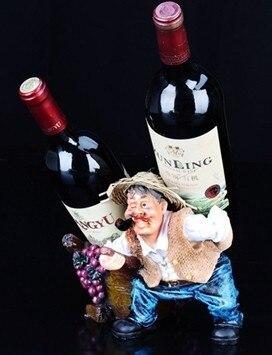 031315 Resin wine rack creative fashion modern household farmer uncle