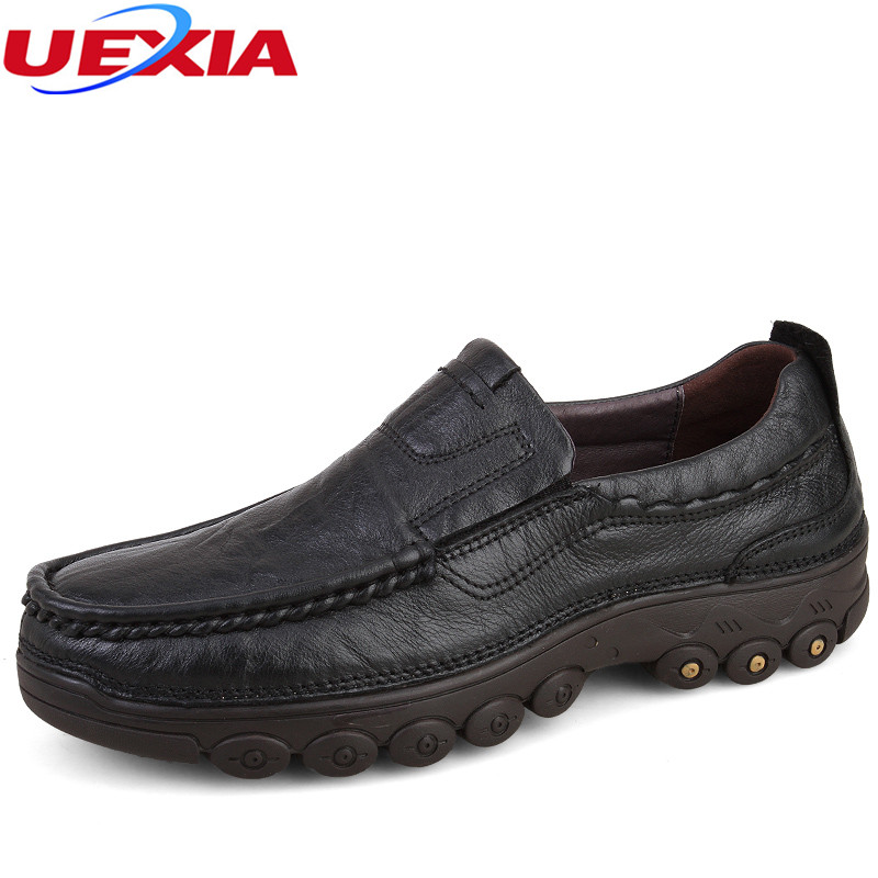 Plus Size 47 Full Grain Leather Autumn Winter Russian Casual Men Shoes Plush Handmade Warm Snow Shoe High Quality Zapatos hombre branded men s penny loafes casual men s full grain leather emboss crocodile boat shoes slip on breathable moccasin driving shoes