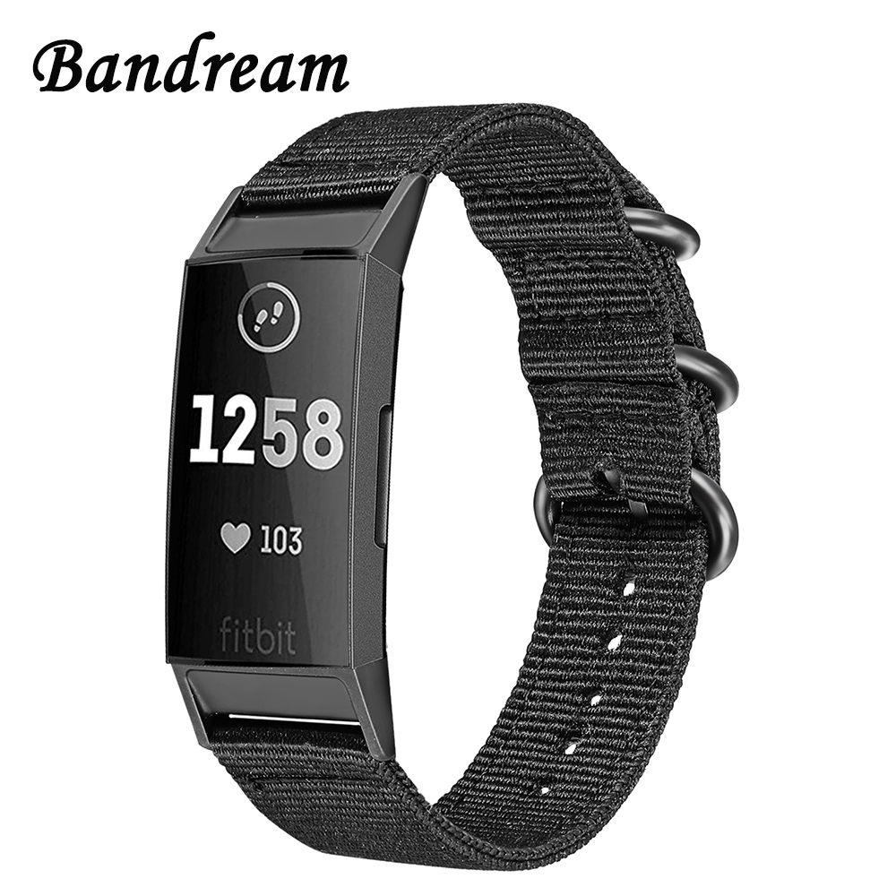 все цены на Canvas Nylon Watchband for Fitbit Charge 3 / Charge 3 SE Watch Band Sports Strap Stainless Steel Ring Clasp Bracelet Wristband