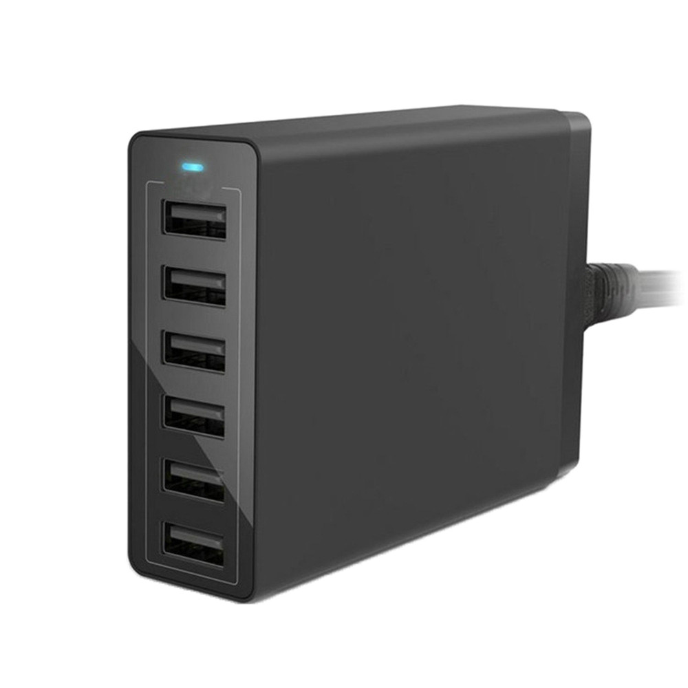 Multi Port USB Charger 12A 60W Rapid Charging Station Desktop Travel Hub Dropshipping April29