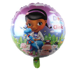 Arrival McStuffins Doctor Helium Balloon Kids Birthday Party Decoration Toys Children Mylar Balloons(China)