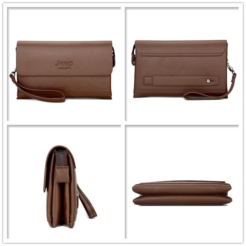 1f201928d JEEP BULUO Luxury Brand Male Leather Purse Men's Clutch Wallets Handy Bags  Business Carteras Mujer handbag Men Black Brown 808 2 on Aliexpress.com |  Alibaba ...
