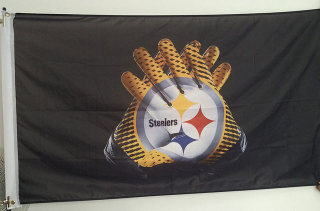 Online Shop 3x5FT New York Giants Gloves Flag 100D Polyester flying ... 76a5ddbca