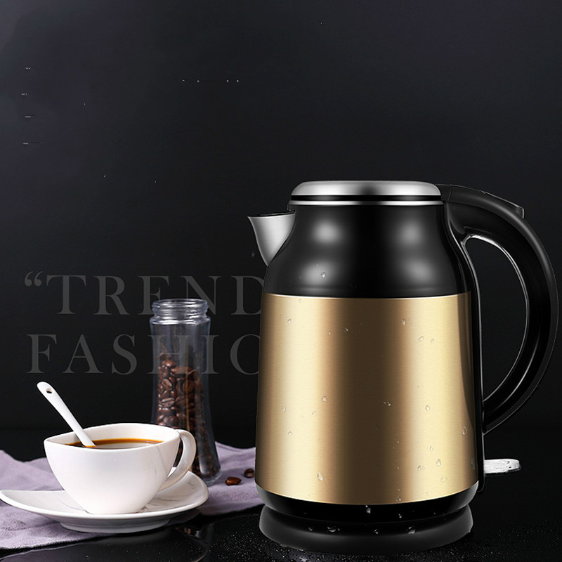 все цены на Electric kettle 304 stainless steel genuine insulation household automatic power cut large capacity electric fast bur онлайн