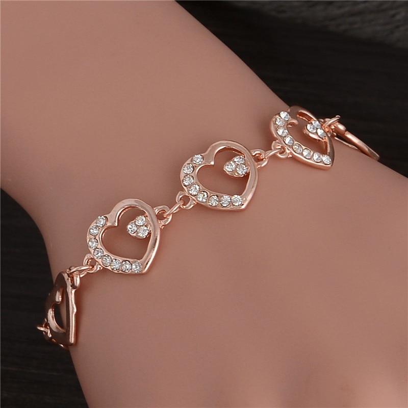 Fashion Golden Plated Chain Bracelet For Girl New Design Delicate ...