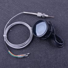"""Beler Черный """" 52 мм DC 12 В светодиодный цифровой датчик температуры выхлопных газов EGT датчик температуры"""