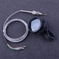 beler Black 2 52mm DC 12V LED Digital Exhaust Gas Temperature EGT Temp Gauge Meter Sensor Monitor