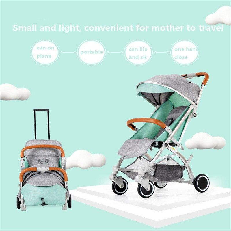Weightlight Dobrável Pode Sentar ou Deitar Alta Paisagem Carrinho de bebê Adequado 4 Estações Quatro Rodas Carrinho De Criança Carrinho de Bebé Para Recém-nascidos