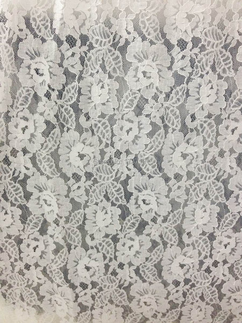 Wedding Gown Fabric, Corded Embroidery Fabric in Off white, Bridal ...