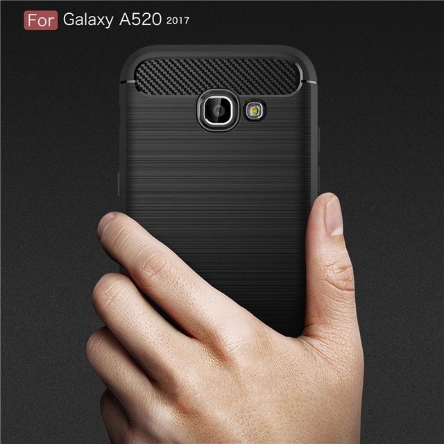 Luxury Soft Fiber Carbon Silicone Cases for Samsung Galaxy A5 2017 Case Cover for Samsung Galaxy A5 2017 Case Shockproof P35