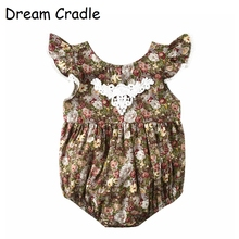 Dream Cradle / Toddler Girl Romper Lace Summer Clothes Cotton Little