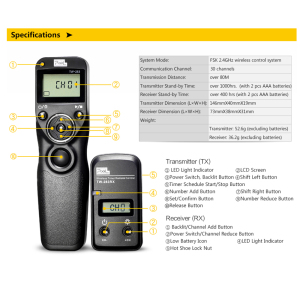 Image 4 - Pixel TW 283 Wireless Timer Remote Control Shutter Release (DC0 DC2 N3 E3 S1 S2) Cable For Canon Nikon Sony Camera TW283