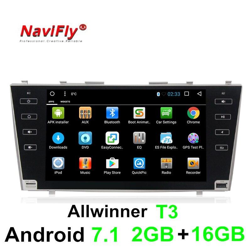 Allwinner T3 Android 7,1 quad core 2 г Оперативная память стерео Мультимедийный плеер для Toyota Camry 2006-2011 gps-навигации авторадио