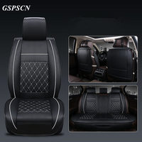 GSPSCN New Universal 5 Seat Car Luxury Genuine Leather 3D Car Seat Covers Front and Rear Surround Cushion Pad for Four Season