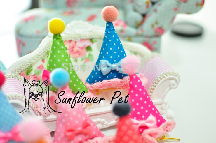 Pet Birthday And Holiday Lace Hat Hairclip Barrettespet Hairpin Bow 30pcs Lot In Dog Accessories From Home Garden On Aliexpress