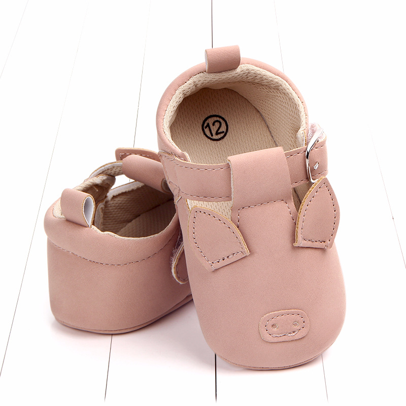 Baby First Walkers Matte leather Shoes for Baby Girl Boy Cartoon Animal Newborn Slippers Footwear Booties Kids Gift Child Shoes (20)