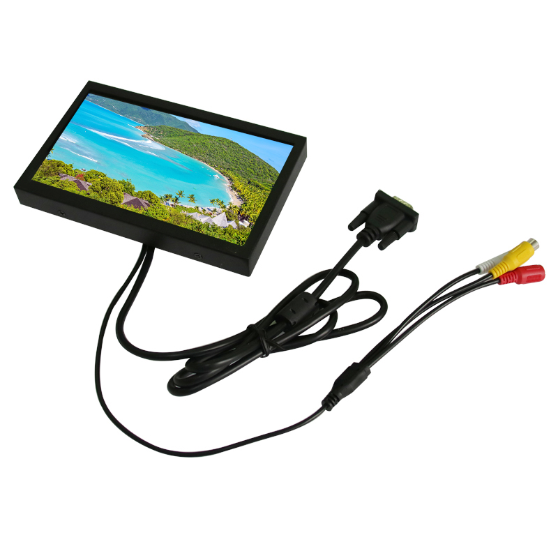 ФОТО 7 inch lcd monitor vga usb interface metal shell embedded industrial control resistive touchscreen/touch 1024*600 resolution