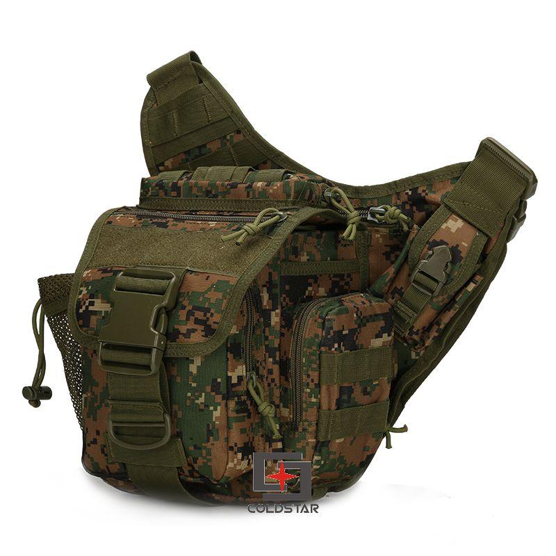 Woodland Digital Camo Táctico Militar Molle Bolsa de Pierna de La Gota Bolsa de