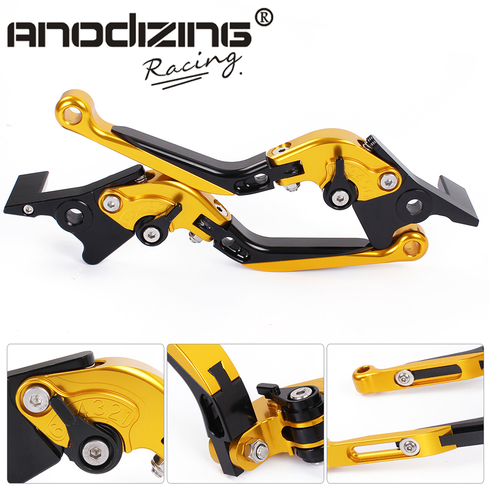 F-23/C-23 Adjustable CNC 3D Extendable Folding Brake Clutch Levers For  APRILIA   SHIVER 900	2017 SHIVER / GT	2007-2016 billet alu folding adjustable brake clutch levers for motoguzzi griso 850 breva 1100 norge 1200 06 2013 07 08 1200 sport stelvio