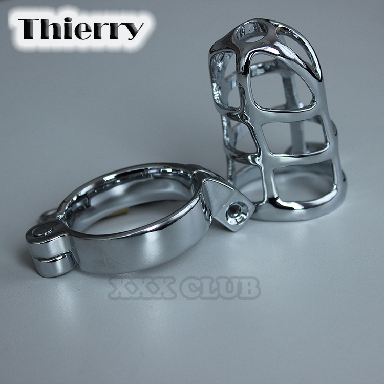 Thierry Top Quality Alloy Metal Male Chastity Devices Cages,Virginity Cock Cage,Penis Rings,Penis Lock,Adult Games,Sex Toys
