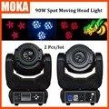 2 Pçs/lote 90 W Moving Head Spot Light LED Spot Movendo cabeça de Luz Gobo LEVOU 3 Rosto Prisma de Luz para o Estágio Bar