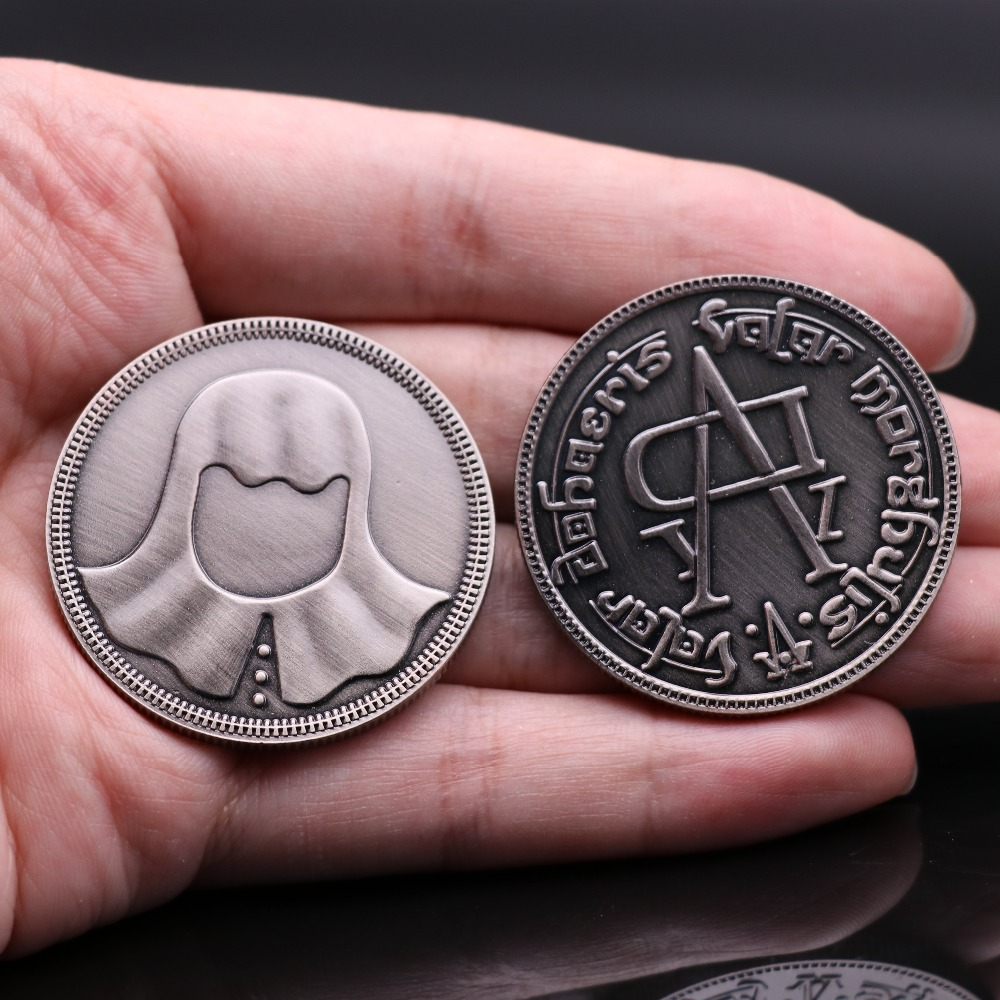 Movie Game Of Thrones Faceless Coin Cosplay Badge Valar Morghulis Jaqen H'ghar Badge 1:1 Christmas Fans Gift 4CM Metal