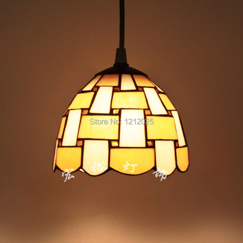 Online Shop Retro Tiffany Style Pendant Lamp Stripe Stained Glass