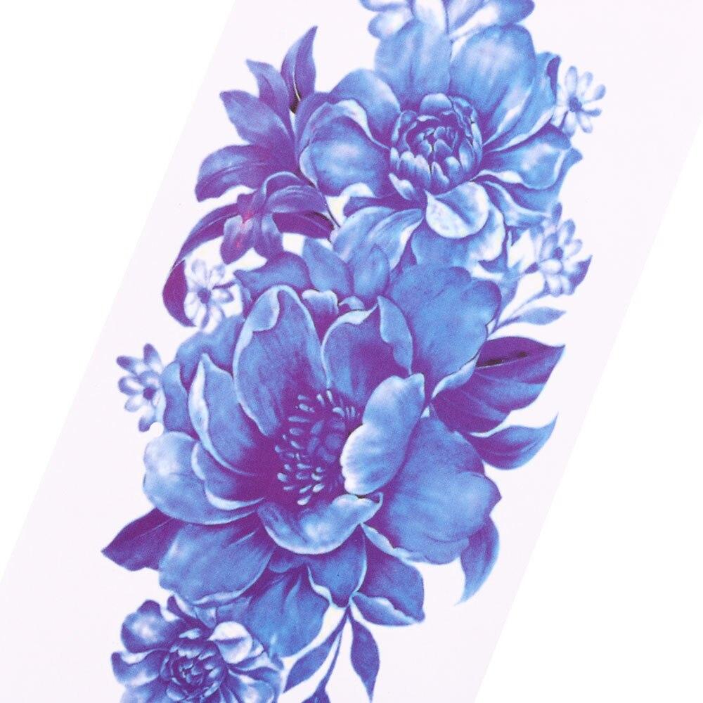 Waterproof 3d Rose Flower Tattoo Stickers Women Sex Flash Tattoos