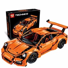 LEPIN 20001 Technic Series 911 GT3 RS Car Model Building Kits Minifigures Blocks Bricks Compatible With 42056 Boys Gift