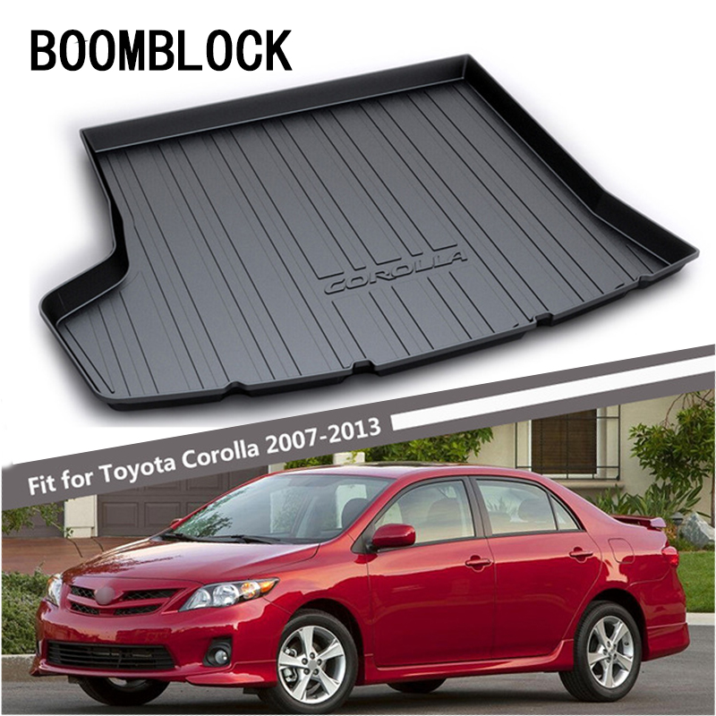 BOOMBLOCK For Toyota Corolla 2008 2007 2009 2010 2011 2012 2013 Waterproof Anti-slip Trunk Mat Tray Floor Carpet Pad Protector for hyundai tucson 2006 2007 2008 2009 2010 2011 2012 2013 2014 waterproof anti slip car trunk mat tray floor carpet pad