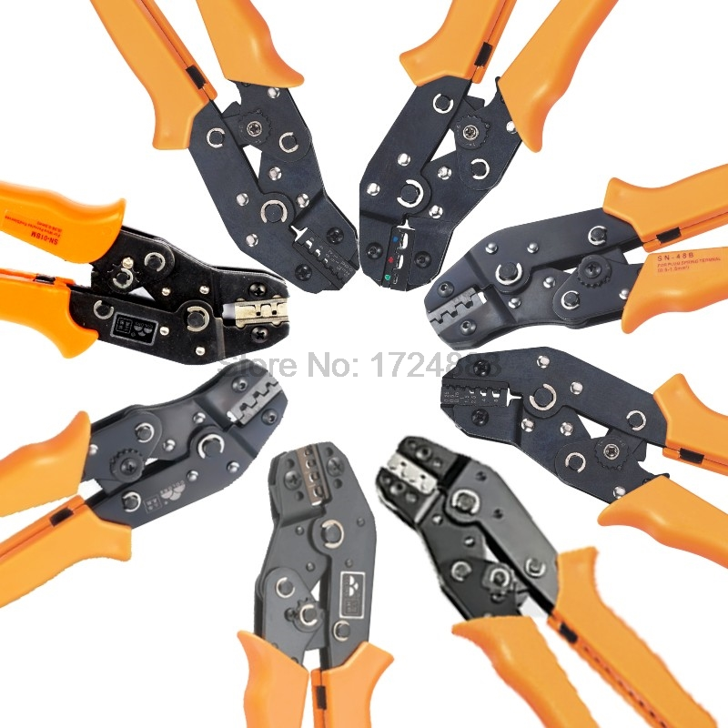 Freeshipping Crimping tool Ratchet terminal line pressing pliers,Crimping Pliers SN-01BM/ 02BM/SN-02C/ 05WF/ 06/ 06WF/ 28B/48B pro skit cp 3141 impact terminal board pressing tool for krone white black 175mm