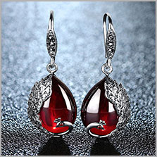 HTB1Bu35mH1YBuNjSszhq6AUsFXaZ - JIASHUNTAI Retro 100% 925 Sterling Silver Round Garnet Drop Earrings For Women Natural Red Gemstone Ruby Fine Jewelry Best Gifts