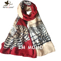 Hot selling Owl Printed scarves Women Personalized Big Owl Shawls Fashion Long Cotton Scarfs Ladies casual All-match Foulard