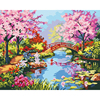Frameless Modular Pictures DIY Digital Oil Painting By Numbers On The Canvas River Scenery Of The