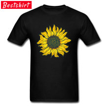 Yellow Perennial Sunflower Men T Shirts Flower Praise Sun New Coming World Of He-man Tshirt High Autumn Sweatshirt(China)