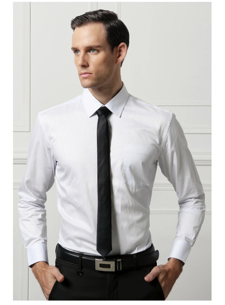 Summer men's formal wear long sleeved white shirt shirt Slim ...