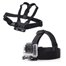 for Go Professional Hero three+ four 5 for Xiaomi Yi SJ4000 SJ5000 Gopro Chest Belt Head Strap Mount Motion Digicam Equipment Tripod Monopod