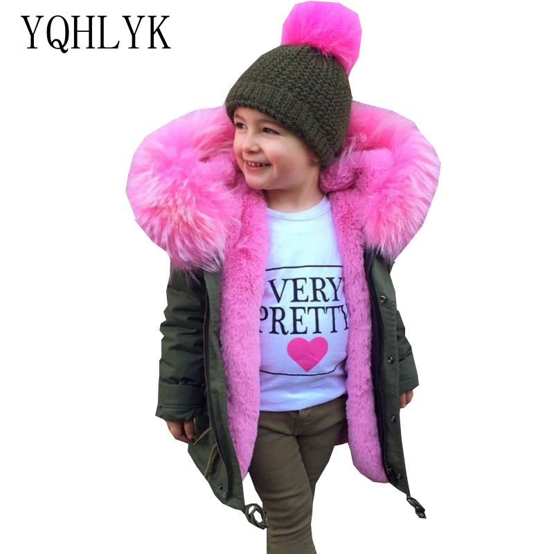 цена на Boy Girls Baby New Fashion Winter Cotton Jacket 2018 Children Zipper Hooded Imitation Fur Coat Casual Thicken Warm Kids Clothes