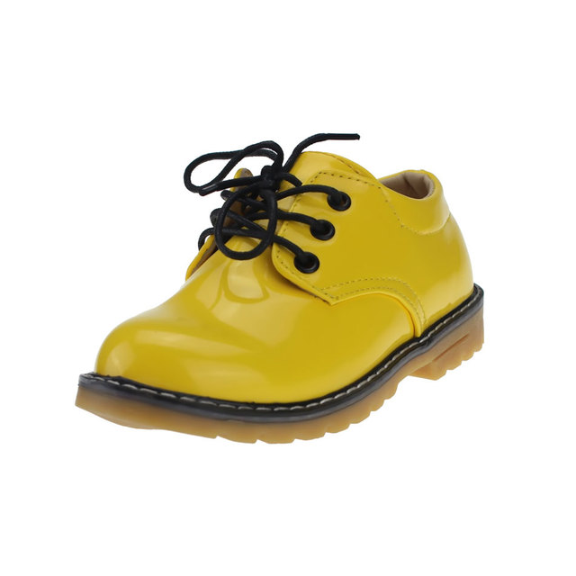56c9c6a93 MSMAX Patent Leather Children Shoes Boys Girls Breathable Lace Up Rubber  Soft Martin Shoes Kids School