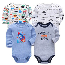 4 pcs/set Tender Babies Baby boy and girl clothing long-sleeved tights autumn winter printing  baby bodysuit