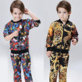 2016 Brand New Autumn Winter Coat Jacket Suit Boys T-shirt Pants 2pcs Children's Clothing Cardigan Printing Fashion Retail