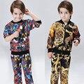 2016 Nuevo Otoño Abrigo de Invierno Chaqueta de Traje de Los Muchachos de la Camiseta Pantalones 2 unids ropa Para Niños Cardigan Impresión de la Moda Al Por Menor