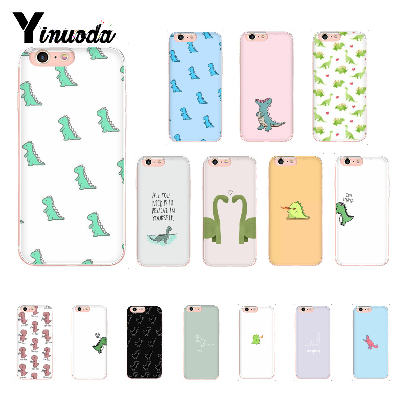 Yinuoda cute Little <font><b>Dinosaur</b></font> Pattern TPU Soft Phone <font><b>Case</b></font> for <font><b>iPhone</b></font> 8 <font><b>7</b></font> 6 6S Plus X XS MAX 5 5S SE XR 10 Cover 11 11pro 11promax image