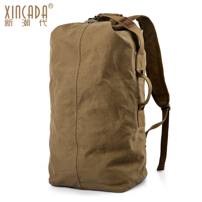 XINCADA men canvas laptop backpack Capacity student Schoolbag waterproof  antitheft backpacks travel Casual Fashion bag-in Backpacks from Luggage    Bags on ... fd229e272c3db